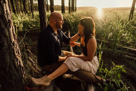 Luke Middlemiss Photography Pine Forest Engagement shoot